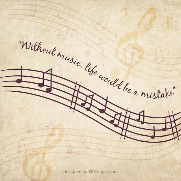 Fondo musical vintage vector gratuito