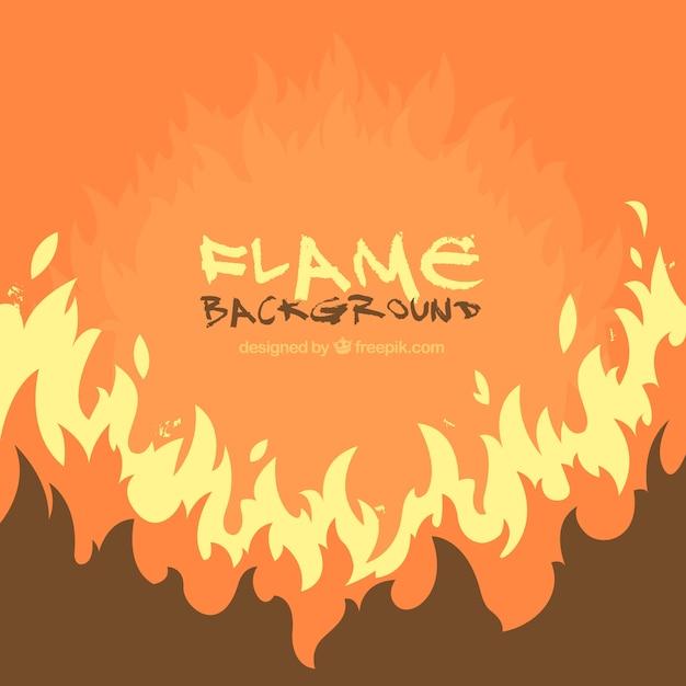 Fondo naranja de llamas vector gratuito