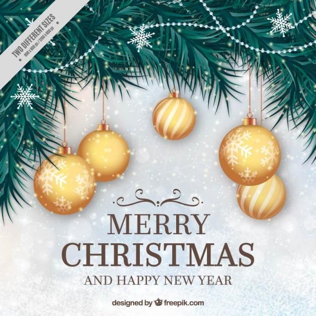 Fondo natural de bolas doradas de navidad descargar - Bolas de navidad doradas ...