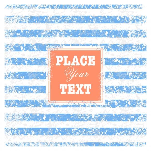 Fondo náutico de chatarra vintage con rayas y texto vector gratuito