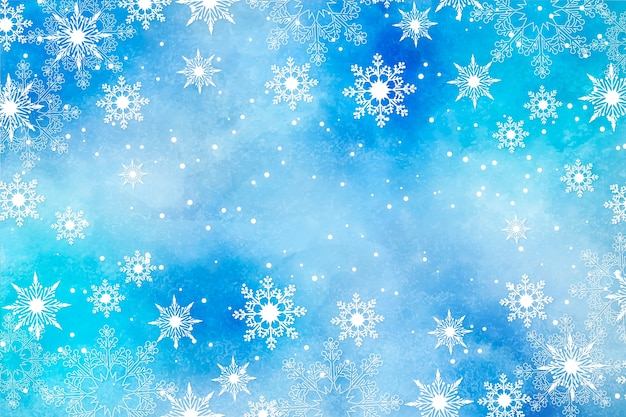 Fondo de navidad en acuarela vector gratuito