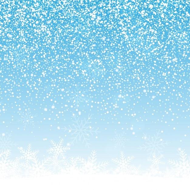 Fondo de navidad con copos de nieve vector gratuito