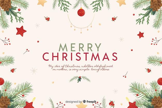 Fondo de navidad dibujado a mano vector gratuito