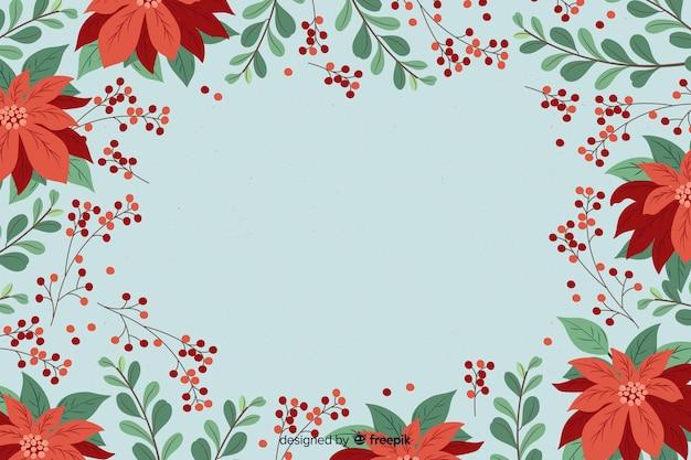 Fondo de navidad en diseño plano vector gratuito