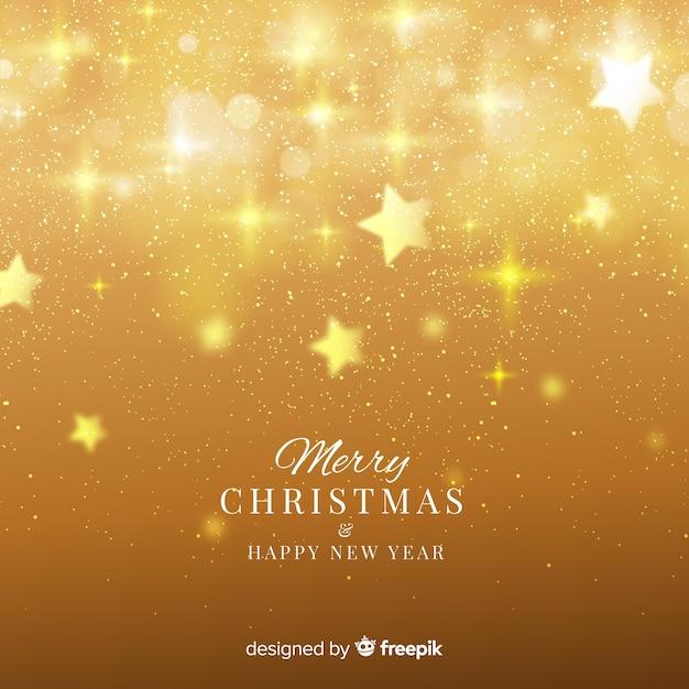 Fondo navidad estrellas borrosas vector gratuito