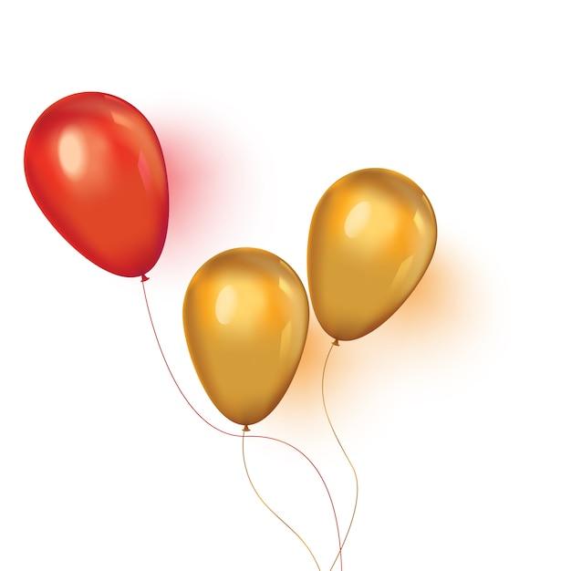 Fondo de navidad con globos de fiesta flotantes Vector Premium