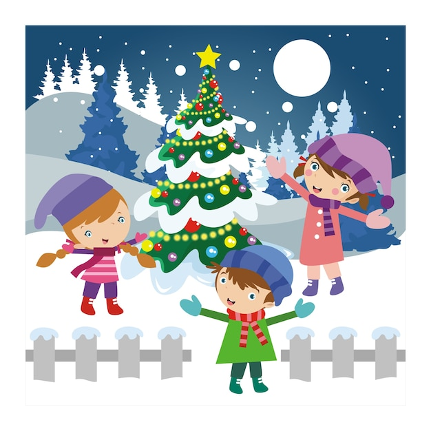Resultado de imagen de niños jugando en navidad