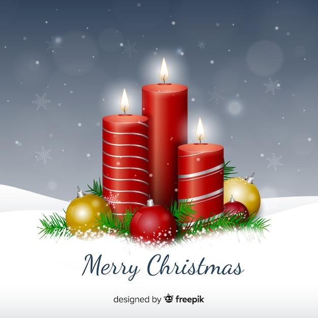 Velas De Navidad Fotos Y Vectores Gratis - Velas-de-navidad