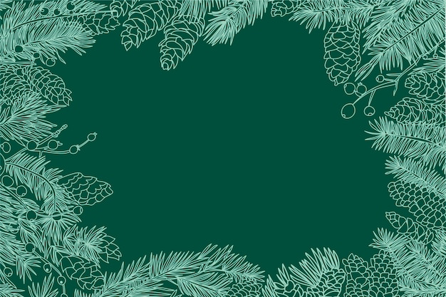 Fondo de navidad vintage vector gratuito
