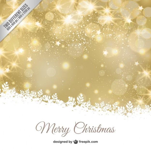 Fondo navide o dorado bokeh con hojas blancas descargar for Papel decorativo dorado