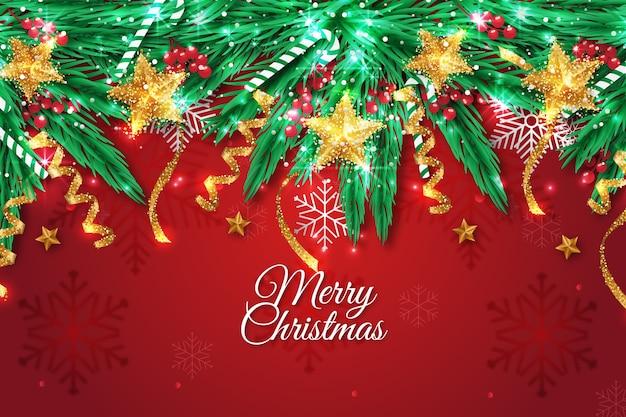 Fondo navideño con efecto brillo vector gratuito