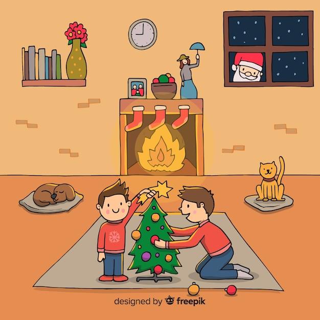 Fondo navideño vector gratuito