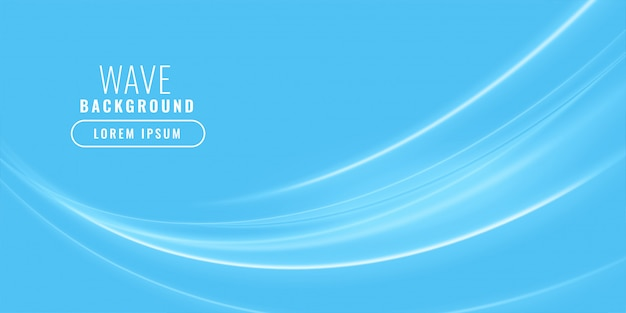 Fondo de negocio brillante ondulado azul vector gratuito