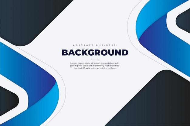 Fondo de negocios abstractos con plantilla de formas azules vector gratuito