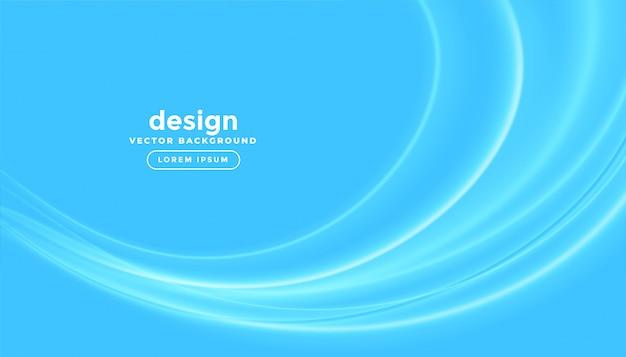 Fondo de negocios azul con olas brillantes vector gratuito