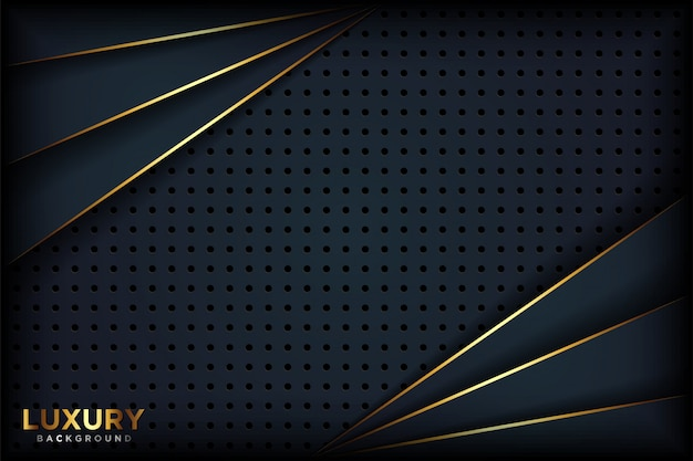 Fondo negro abstracto lujoso Vector Premium