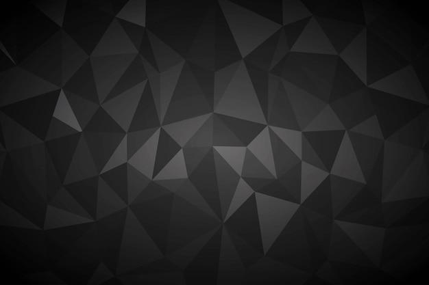 Fondo negro abstracto Vector Premium