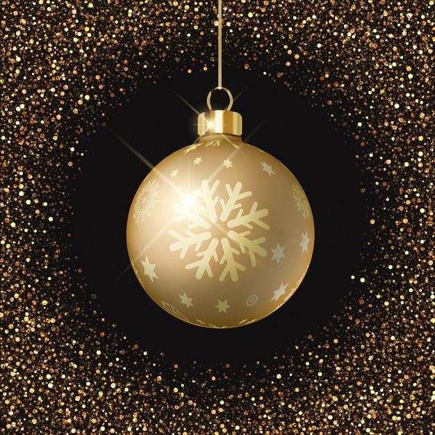 Fondo negro bola de navidad dorada descargar vectores - Bolas de navidad doradas ...