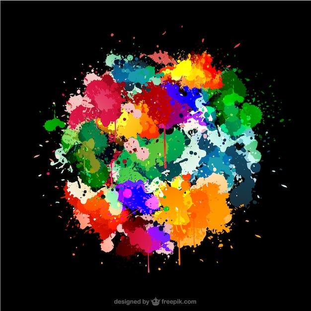 Fondo negro con manchas de pintura de colores descargar - Pintura de colores ...