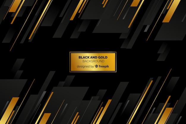 Fondo negro y dorado vector gratuito