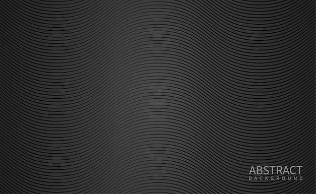 Fondo negro con linea ondulada Vector Premium