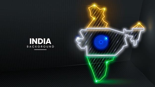 Fondo de neón de la india Vector Premium