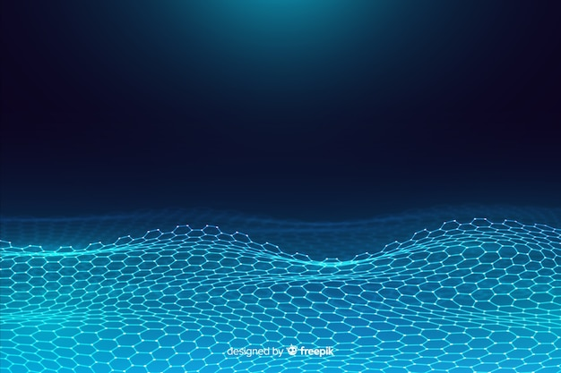 Fondo neto hexagonal futurista vector gratuito