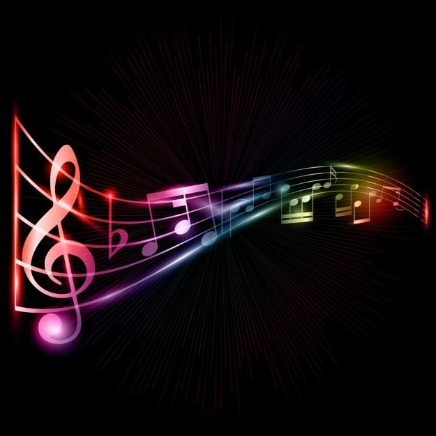 Fondo de notas musicales | Vector Gratis