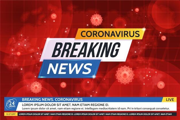 Fondo de noticias de última hora sobre coronavirus Vector Premium