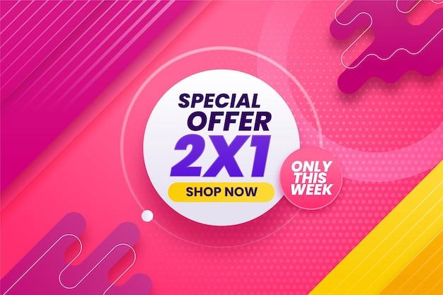 Fondo de oferta especial con descuento vector gratuito