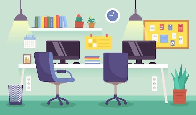 Fondo de oficina para videoconferencia vector gratuito