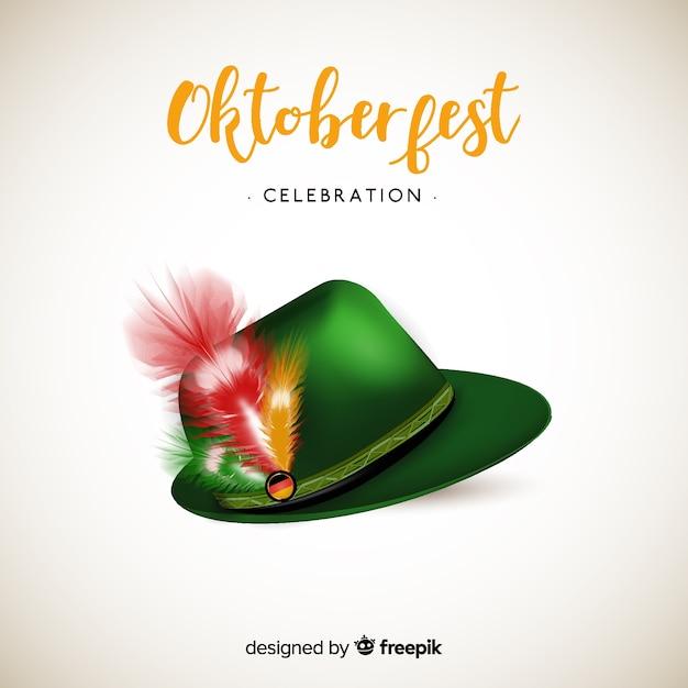 Fondo de oktoberfest con sombrero tirolés  4090e3bf9558