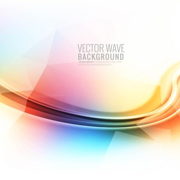 Fondo de onda brillante colorido abstracto vector gratuito