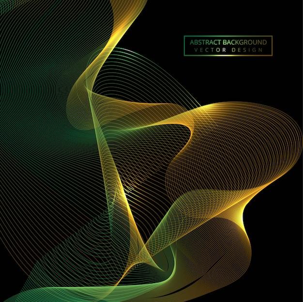 Fondo de onda brillante elegante colorido que fluye vector gratuito