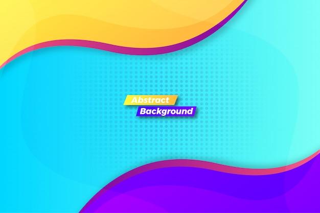 Fondo de onda colorido abstracto atractivo Vector Premium