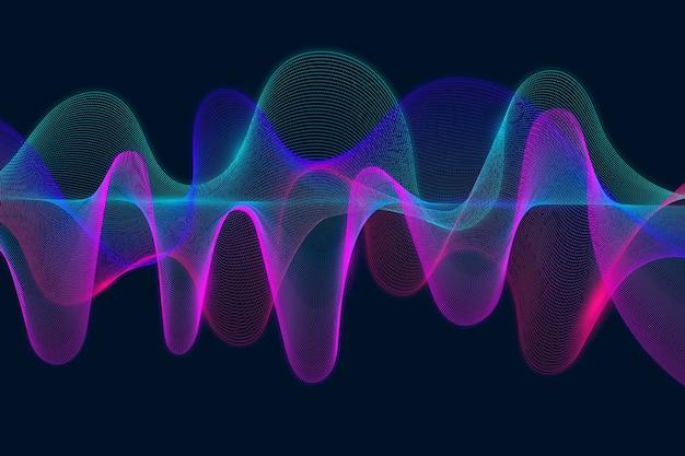 Fondo de onda ecualizador colorido vector gratuito