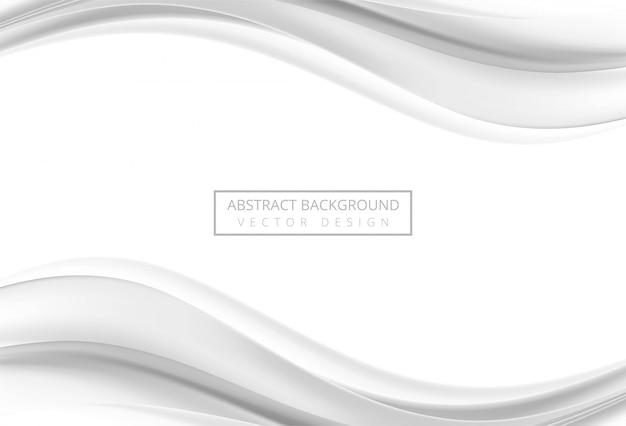 Fondo de onda elegante gris abstracto vector gratuito
