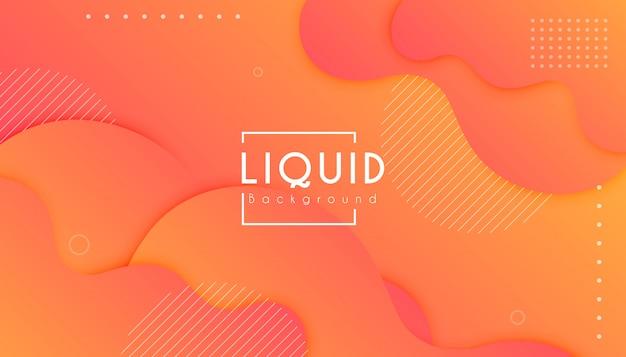 Fondo de onda de forma colorida degradado abstracto Vector Premium