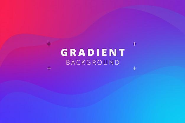Fondo de onda con gradientes fluidos. Vector Premium
