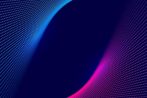 Fondo de onda punteada tecnología colorido abstracto vector gratuito