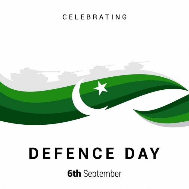 Fondo de onda verde del día de pakistán vector gratuito