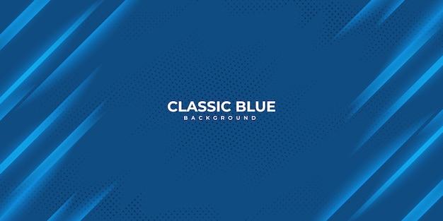 Fondo ondulado azul clásico abstracto. Vector Premium