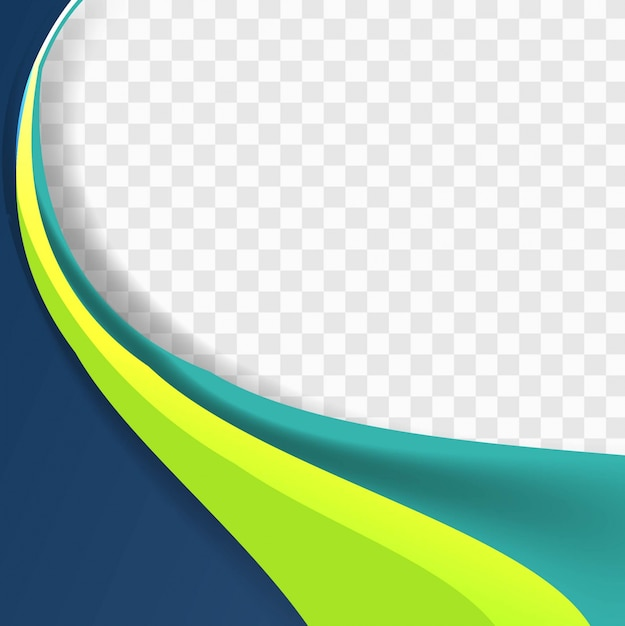 Fondo ondulado azul y verde Vector Gratis