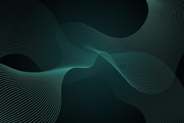 Fondo ondulado verde oscuro con espacio de copia vector gratuito