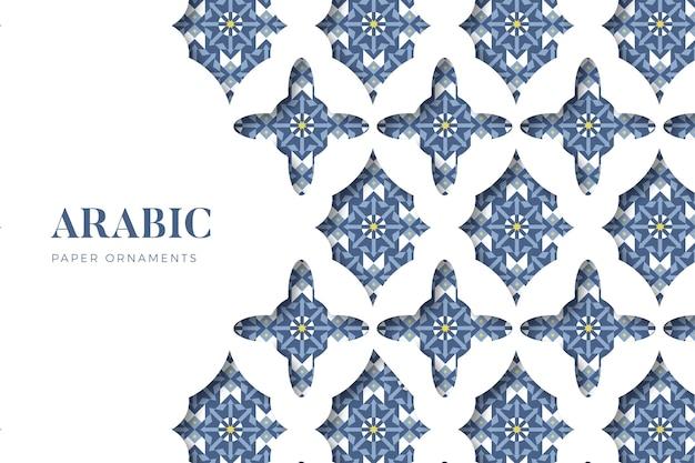 Fondo ornamental árabe en estilo papel Vector Premium