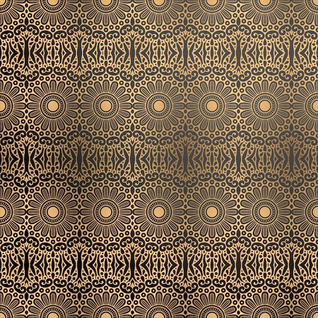 Fondo ornamental de lujo en color dorado. vector gratuito