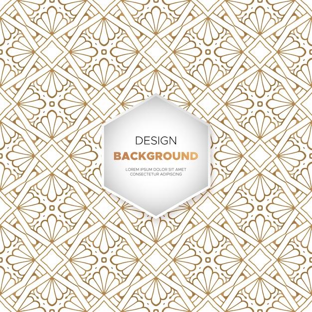 Fondo ornamental de lujo con diseño de mandala en color dorado. vector gratuito
