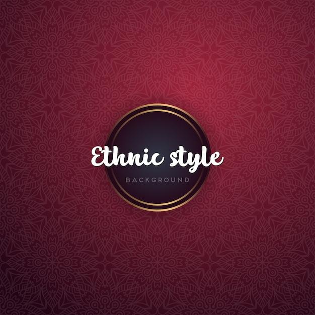 Fondo ornamental de lujo diseño de mandala vector gratuito