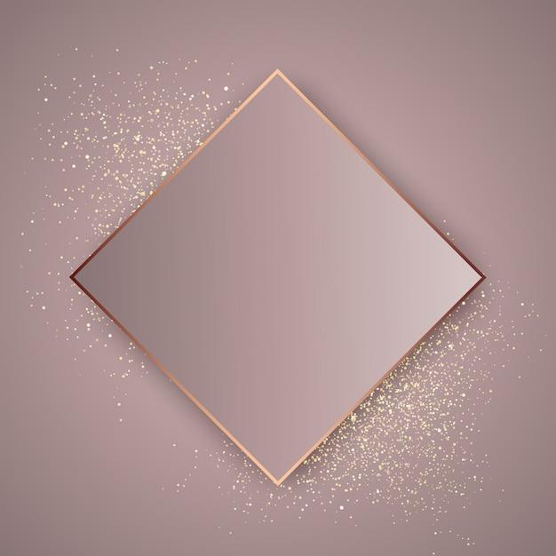 Fondo de oro rosa brillante. Vector Premium
