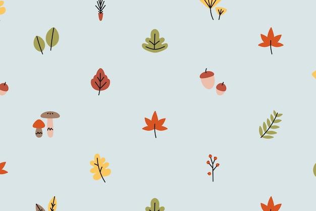 Fondo de otoño estampado vector gratuito